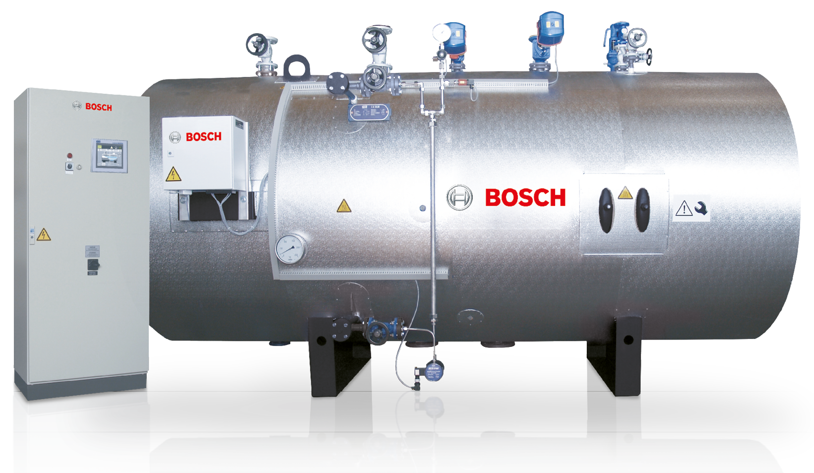 High-pressure condensate tank, including equipment and control